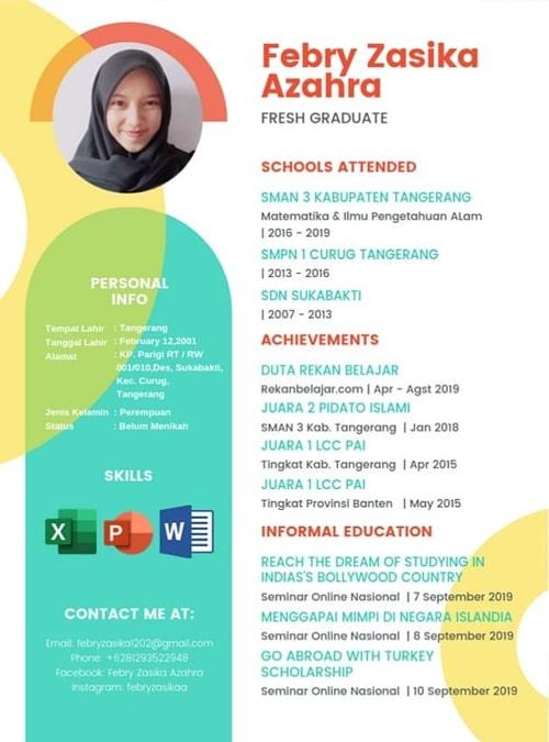 Contoh Daftar Riwayat Hidup CV Kreatif