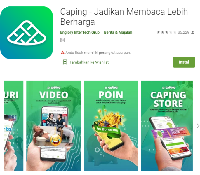 Aplikasi Android Caping