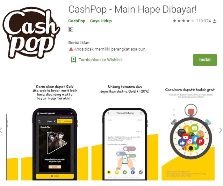Aplikasi Android Cash Pops