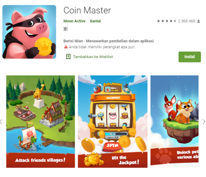 Aplikasi Android Coin Master