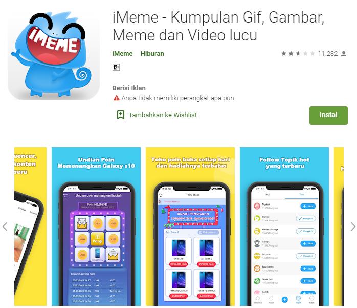 Aplikasi Android i-Meme