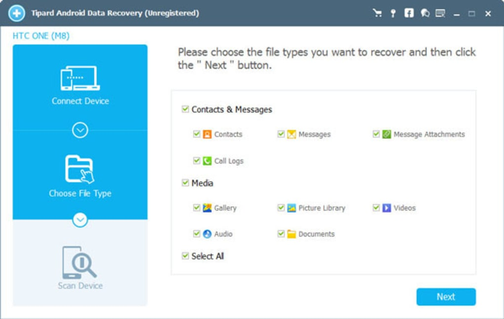 Aplikasi File Recovery Data Android Tipard