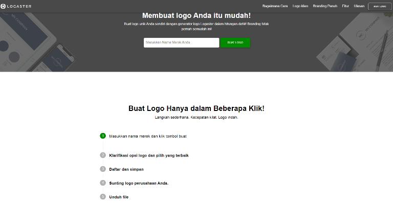 Cara Membuat Logo Blog Online Logaster