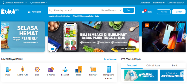 Situs Toko Online Blibli