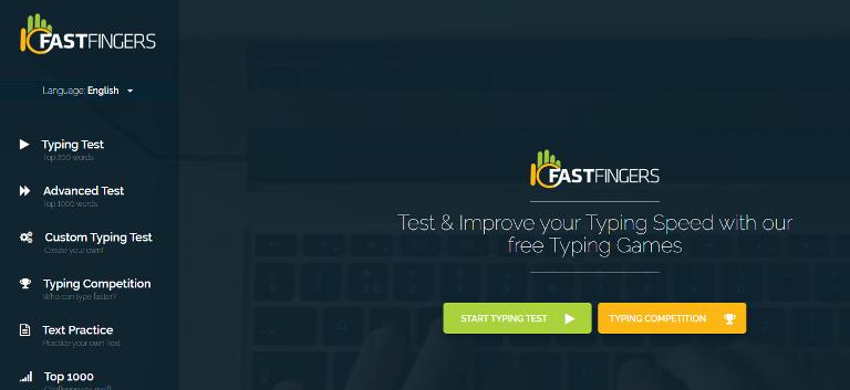 Website Tes Kecepatan Tangan 10FastFingers.com