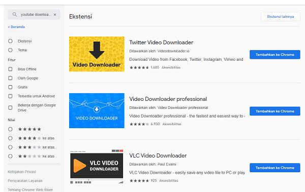 Download Video Youtube Menggunakan Google Crome
