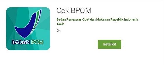 Aplikasi cek BPOM Playstore