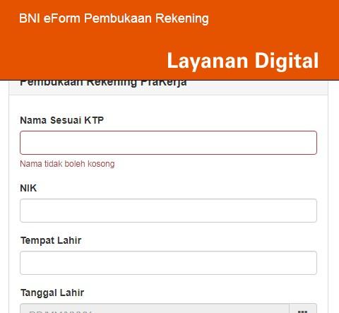 Cara Membuka Rekening BNI Secara Online
