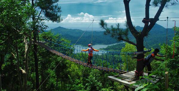 High rope games Wisata Kalibiru