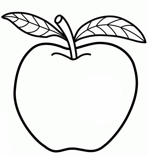Mewarnai Buah Apel