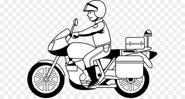 Mewarnai Gambar Transportasi Motor