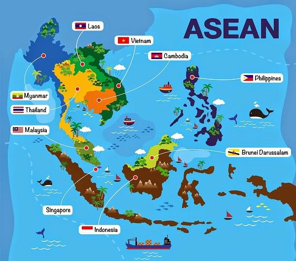 Peta Asean Lengkap Dan Negara Anggotanya Republik Seo