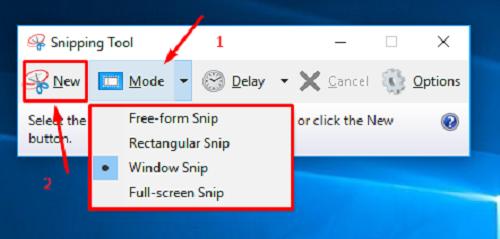 Screenshot Menggunakan Snipping Tool