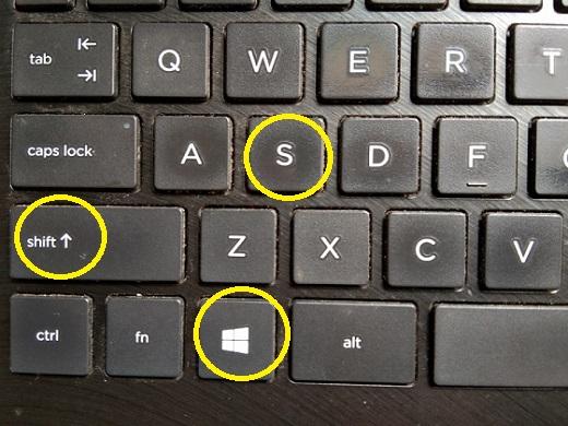 Screenshot Menggunakan Tombol Windows + Shift + S