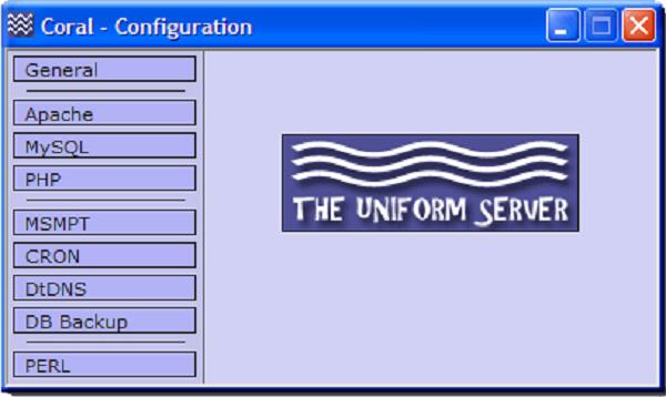 The Uniform Server web serve