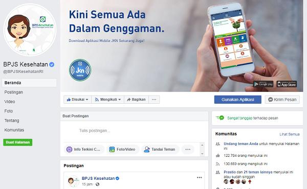 Cek Nomor BPJS Kesehatan Melalui Facebook