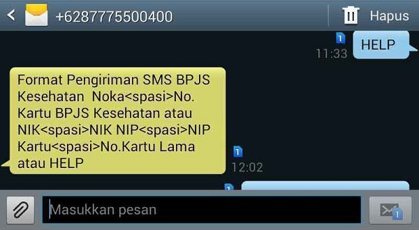 Cek Nomor BPJS Kesehatan Melalui SMS
