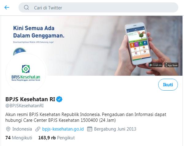 Cek Nomor BPJS Kesehatan Melalui Twitter