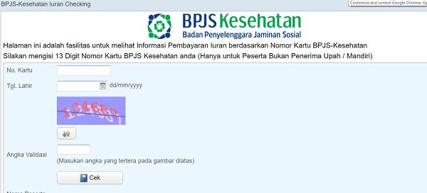 Cek Nomor BPJS Kesehatan Melalui Website