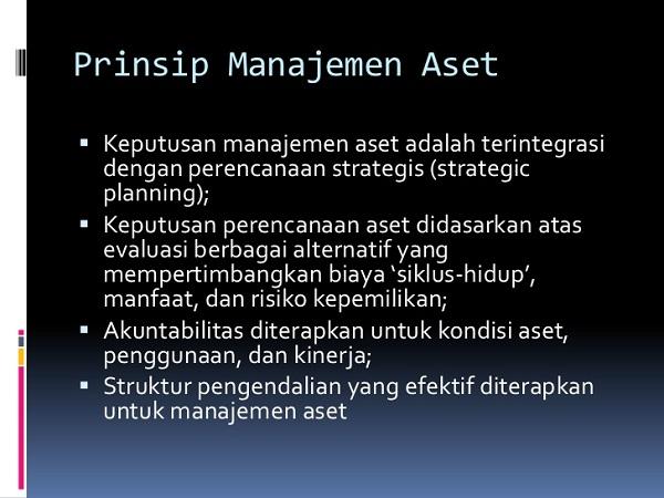 Prinsip - prinsip Manajemen Aset