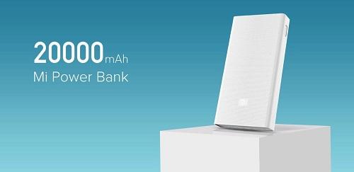 Xiaomi Mi power bank 20.000 mAh