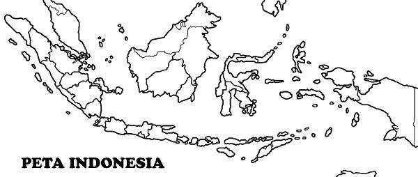 Peta Indonesia Hitam Putih