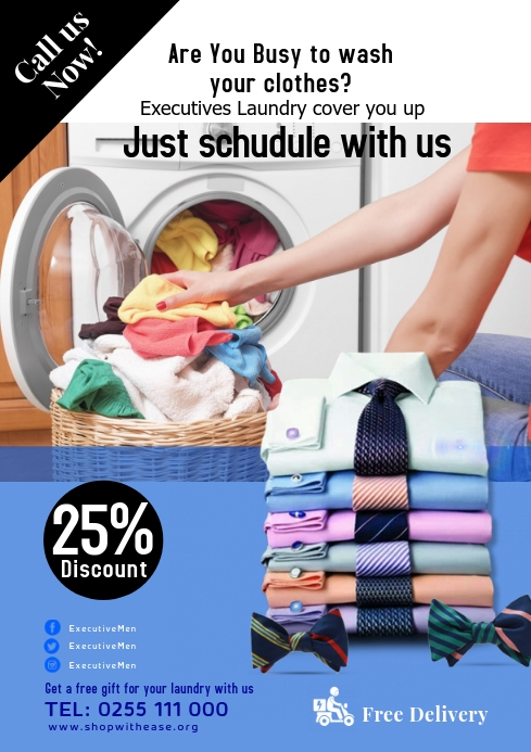 Contoh Banner Laundry