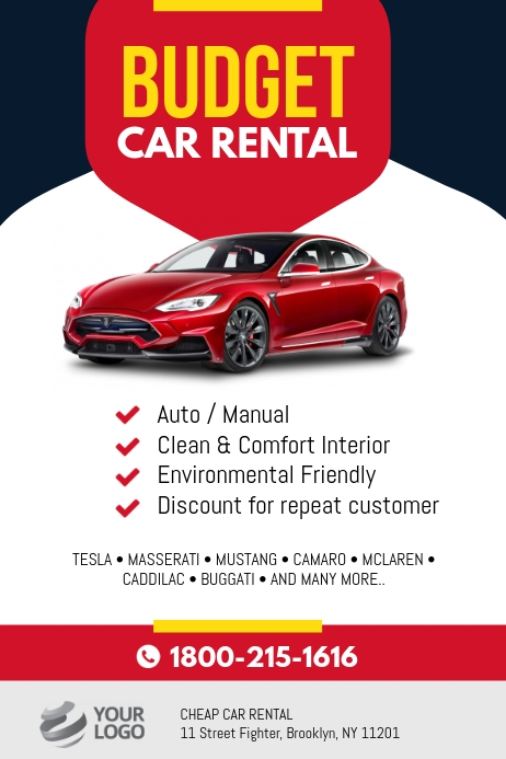 Contoh Banner Rental Mobil