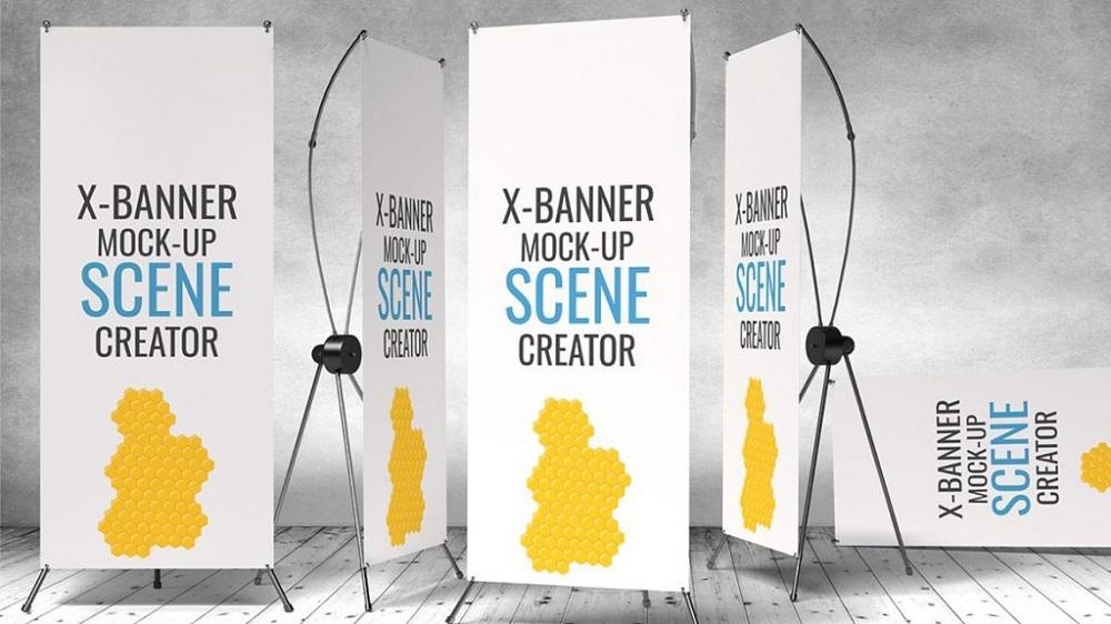 Contoh X Banner Desain Keren